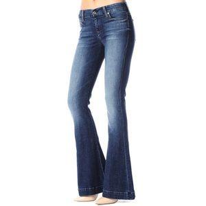 7Fam Jiselle Flare Frayed Hem Jeans
